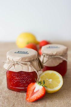 Erdbeer-Zitronenkonfitüre mit Prosecco