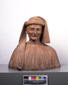 Object: Bust Made in Florence, Italy Made in 1500 C.E This is how family's would remember lost loved ones.  They would lay plaster over the face of someone who recently died in the family.  This man is thought to be a old leader of the Florintines Government.  I thought this was interesting because it is how they would remember they're loved ones.
