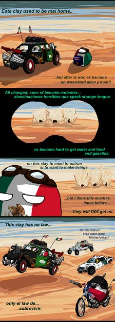 MAD MEX ( Mexico, Texas ) by yaddar #polandball #countryball