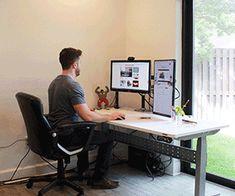 Motorized Stand/Sit Computer Desk