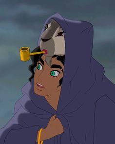 Esmeralda genderbend...and Djali with makeup? by esmeraldo