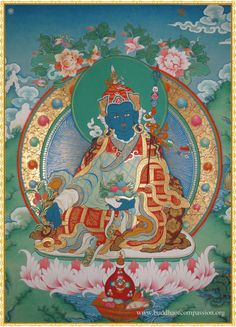 Orgyen Menla , Guru Rinpoche of Medicine, is a form of Guru Rinpoche manifesting as a Buddha of Medicine.