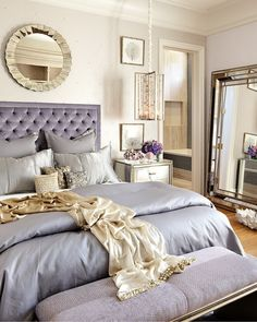Luxury Blue Lilac Princess Bedroom Idea