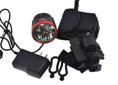"""Amazon.com : Gugou Rechargeable Mountain Bike Headlight - With """"NEW"""" 6400mAh Battery - POWERFUL 1200 Lumens - FREE TAILLIGHT Included - LIFETIME WARRANTY : Sports & Outdoors Bicycle Headlight, Bike Light, Tail Light, Mountain Biking, Outdoors, Led, Amazon, Sports, Hs Sports"""