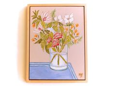 Floral Painting wall art decoration Flowers Painting by Lunartics