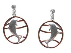 As the warm tones of copper mellow and deepen, the silver plated dolphins become more striking and the jewelery more dramatic. http://www.annabelchaffer.com/products/Dolphin-Earrings.html