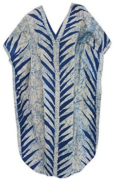 Womens Beachwear Long Casual Dress Caftan MAXI Loose Dress Batik R Blue LEAF 1 Valentines Day Gifts 2017 >>> You can get additional details at the image link. Maternity Swimwear, Maternity Wear, Valentine Day Gifts, Valentines, Batik Dress, Blue Leaves, Beachwear For Women, Palazzo Pants, Leaf Design
