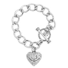 Juicy Couture Pave Banner Heart Starter Bracelet, Silver Juicy Couture http://www.amazon.com/dp/B00KPCA6NY/ref=cm_sw_r_pi_dp_UgqJtb1D3THRYTSS