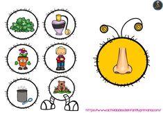 Trabajamos los 5 sentidos con este divertido gusano - Imagenes Educativas Five Senses Kindergarten, Montessori Kindergarten, Preschool Learning Activities, Kindergarten Science, Preschool Worksheets, Toddler Activities, Science Lessons, Science For Kids, 5 Senses Worksheet