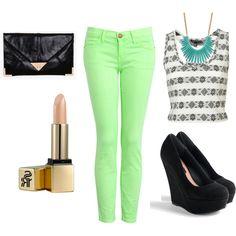 Lime green pants