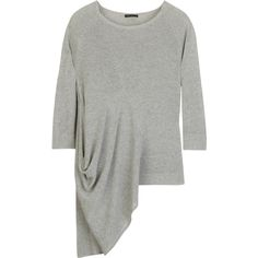 Asymmetric jersey sweater ($203) ❤ liked on Polyvore