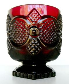Vintage Avon 1876 Cape Cod Ruby Red Juice Tumbler No Box Empty