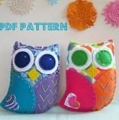Felt Owl Softie PDF Pattern Toy - via @Craftsy