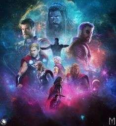 MCU Thor, played by Chris Hemsworth Thanos Marvel, Marvel Comic Universe, Marvel Dc Comics, Marvel Heroes, Marvel Cinematic Universe, Asgard Marvel, Marvel Infinity, Infinity War, Comic Movies