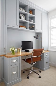Home Office Design, Home Office Decor, House Design, Office Ideas, Home Decor, Design Desk, Interior Office, Library Design, Office Furniture