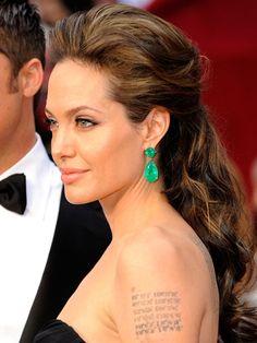Angelina Jolie, 2009 Oscars hair and makeup -  The 13 best Oscars beauty looks EVER - Cosmopolitan.co.uk