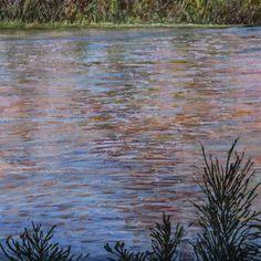 "Saatchi Art Artist Barbara K Cowlin; Painting, ""Waterway Sunset"" #art"
