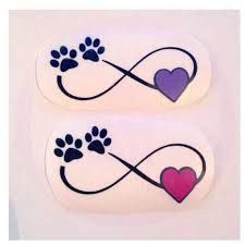 Image result for infinity paw print tattoo