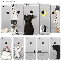 Lovely Cat iPhone 6 6S Soft Silicon Mobile Phone Cases //Price: $11.97 & FREE Shipping//    Buy one now ---> https://phonecaseshut.com/cat-iphone-6-6s-mobile-phone-cases/    #cellphonecovers #cellphonecover