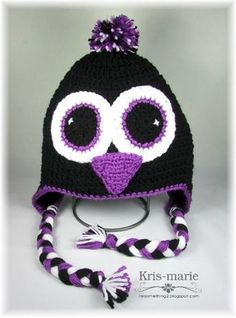 The Crafting Secretary: Crochet Penguin & Snowman Hats