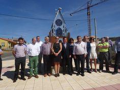 Marcos Martínez inaugura el monumento al peregrino del Camino de San Salvador en Sariegos