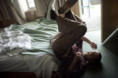Pierce Brosnan falls out of a motel bed? photo by greg williams