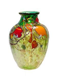 Contemporary art glass vase - V4972 by Tom Michael www.tommichael.com
