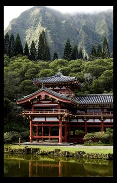 Byodo Temple in Oahu, Hawaii This is one of the most beautiful places I have ever been in my life!
