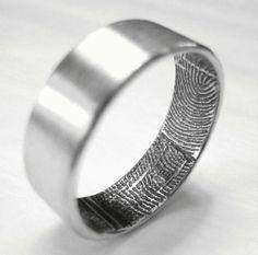 Fingerprint Wedding Bands mens wedding bands, Unique enough for Sergey?
