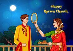 Karva Chauth Wishes, Happy Karwa Chauth, Bridal Chuda, Kalamkari Painting, Doll Divine, Mehndi Art Designs, Diwali Festival, Festival Celebration, Figure Drawing