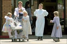 You'll never see an FLDS woman's ankles. The practice of wearing prairie dresses and covering every inch of flesh didn't actually start until after a 1953 raid on the Colorado City compound. Sister Wives, Pigs In A Blanket, It Takes Two, Modest Outfits, Modest Clothing, I Survived, Bridesmaid Dresses, Wedding Dresses, Geek Chic