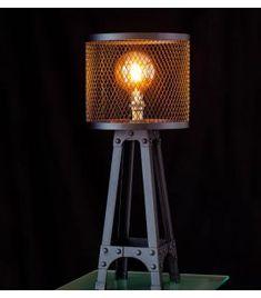 Comprar online Lámpara de Mesa de estilo Industrial Colección CAGE Led, Tripod Lamp, Table Lamp, Lighting, Home Decor, Home Decorations, Contemporary Style, Ceiling Light Fixtures, Vintage Style