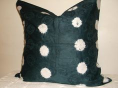 Throw Pillow Cover 20 x 20 Batik Print Tie dye deep by AddisonMade, $29.99
