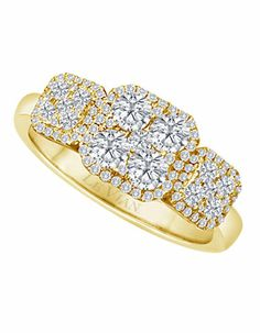 14K Honey Gold .88TW Diamond Ring 0.88TW | Lord and Taylor