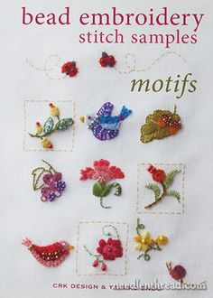 Bead Embroidery Stitch Samples & Motifs – Books Review – Needle'nThread.com