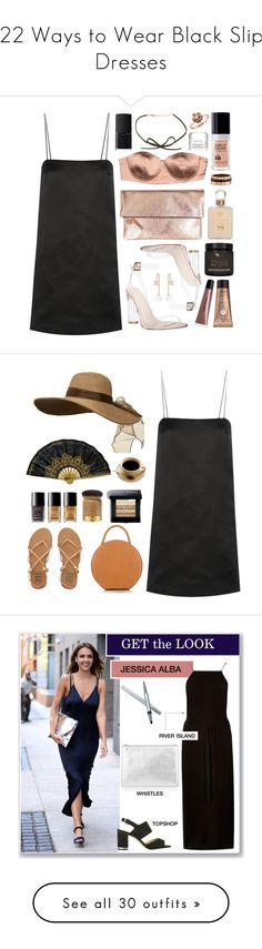"""""""22 Ways to Wear Black Slip Dresses"""" by polyvore-editorial ❤ liked on Polyvore featuring waystowear, blackslipdresses, The Row, Elisabetta Franchi, Clare V., Antica Farmacista, NARS Cosmetics, MAKE UP FOR EVER, Cartier and AMBRE"""