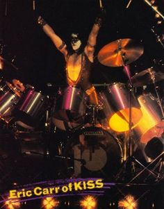 Kiss World, Kiss Members, Eric Carr, Kiss Band, Hot Band, Classic Rock, Rock Bands, Drums, Concert
