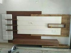 Lcd wall units family rooms that exploit the cornor space open up whatever is lot of the space for more versatile settlement, Modern Tv Unit Designs, Modern Tv Wall Units, Living Room Tv Unit Designs, Modern Tv Cabinet, Tv Unit Furniture Design, Tv Unit Interior Design, Wood Furniture Living Room, Metal Furniture, Tv Unit Decor
