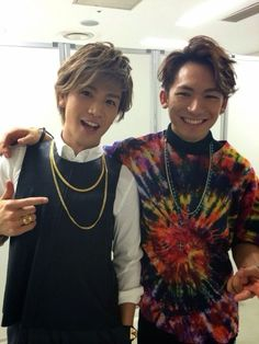 EXILE - Iwata Takanori & Naoto love the tie dye it reminds me of shirts from the 90's and of course the 1960's =)