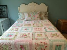 Shabby Chic Quilt, MADE TO ORDER Tanya Whelan Shabby Chic Quilt, Tanya Whelan Fabrics Throw, Lap Quilt, Floral Quilt, Vintage Floral Quilt by comfortandjoyfabrics on Etsy