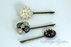 Southern Scraps : Easy DIY bobby pins from vintage earrings