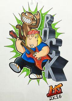 #griffin #monkey #rock #Chris #familyguy #tattoo #tattooartist #colortattoo #mrjack #mrjacktattoo #mrjacktattooartist #tatuaggio #bodyart #arte