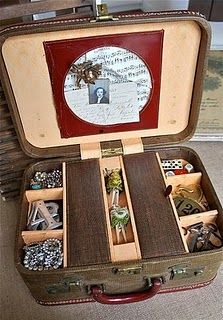 suitcase storage - perfect for my booth.