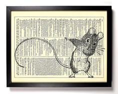 Mouse Dance Repurposed Book Upcycled Dictionary by StayGoldMedia, $6.99