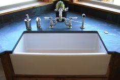 Farm House Kitchen Sink instead of the dual sink... I love a dual sink but this looks so cool!
