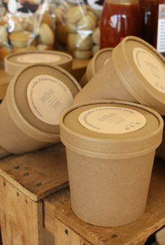 Bake Sale Packaging, Baking Packaging, Kraft Packaging, Dessert Packaging, Food Packaging Design, Coffee Packaging, Packaging Design Inspiration, Ice Cream Packaging, Gelato Shop