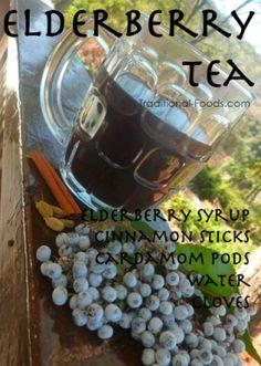 Homemade Elderberry Tea @ Traditional-Foods.com