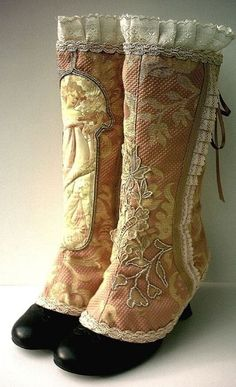 Victorian Boots, make covers in patterns of my ms. santa outfit,,,,