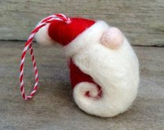 Christmas Decoration Wool Felted Santa St Nick by newtknees