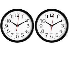 02527d570cf Bernhard Products Black Wall Clocks